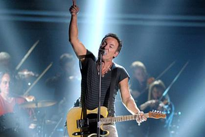 Bruce Springsteen performing live at the Grammy's 2012