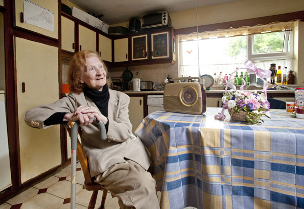 Jo McNamara reminisces at her home in Moyasta. Photograph by Declan Monaghan