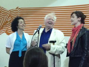 Tara O'Grady, Malachy McCourt and Niamh Hyland