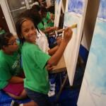 Art: Children's mural/artist reception at Irish Arts Center