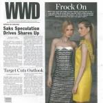 Irish designer's dress on cover of Women's Wear Daily