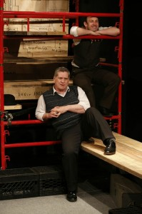 Dan Gordon and Michael Condron in THE BOAT FACTORY, part of Brits Off Broadway at 59E59 Theaters. Photo by Carol Rosegg