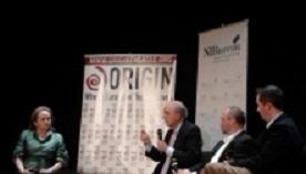 Loretta Glucksman, George Mitchell, Colum McCann and Michael Fanning