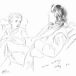 James Edward Kelly's Etching of Oscar Wilde