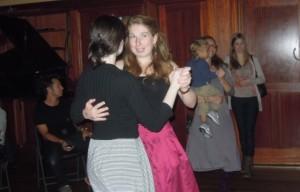 Kieran Jordan and Siobhan Butler dancing at Connolly's