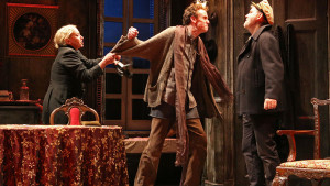 "J. Smith-Cameron (as Juno Boyle), Ed Malone (as Johnny Boyle), and Ciarán O'Reilly (as ""Captain"" Jack Boyle) , ©James Higgins"