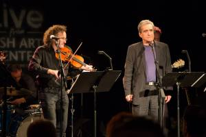 Martin Hayes and Robert Pinsky at Irish Arts Center's Muldoon Picnic Oct 2014_Photo Credit Amanda Gentile
