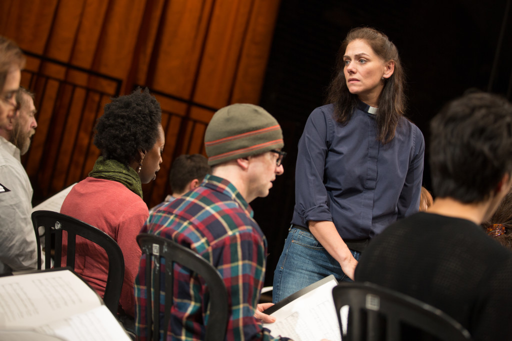 Neve McIntosh in NYTW's THE EVENTS. Photo by Matthew Murphy