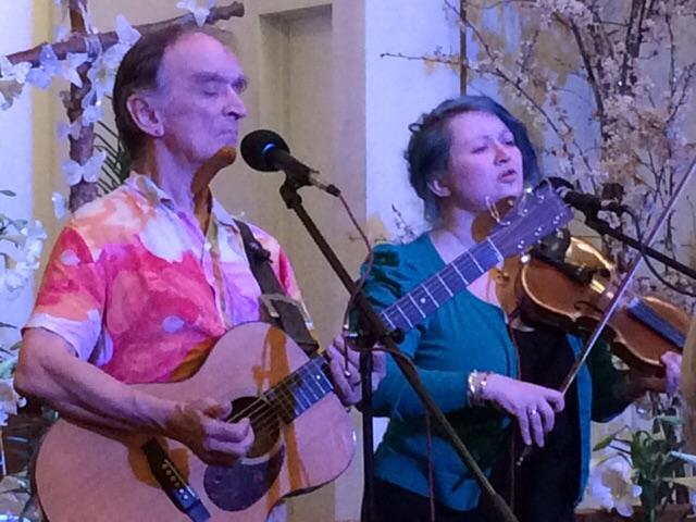 Martin and Eliza Carthy at Church of St. John, Friday April 10, 2015
