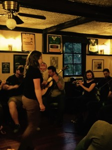 Siobhan Butler dances in McGrath's.