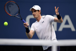 September 7, 2016 - Andy Murray in action against Kei Nishikori in a men's quarterfinal match during the 2016 US Open at the USTA Billie Jean King National Tennis Center in Flushing, NY.