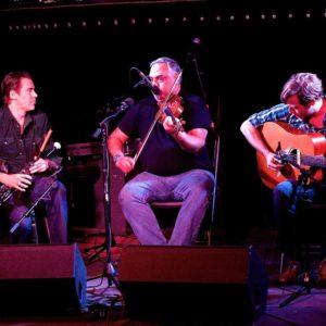 Tony Demarco, center, plays fiddle at New York Tradfest. ©Newyorktradfest
