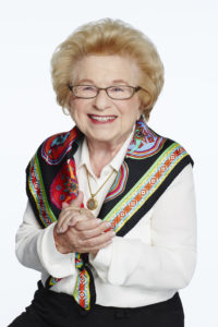 Dr. Ruth sitting photo courtesy of Amazon Publishing