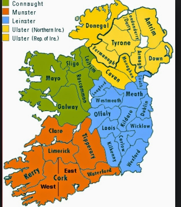 Map Counties Of Ireland.Ireland S 33rd County Found